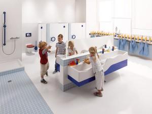 Nowoczesna dziecięca łazienka