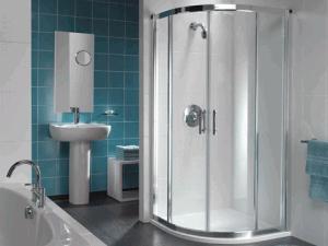 Nowoczesna łazienka w morskim kolorze