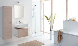 Jasna łazienka w ekologicznym stylu
