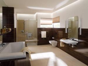 Przestronna łazienka dla całej rodziny