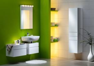 Łazienka w zielonym kolorze