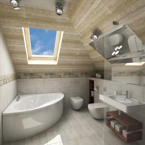 Wygodna łazienka Na Poddaszu Aranzujemylazienkepl