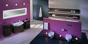 Łazienka na fioletowo