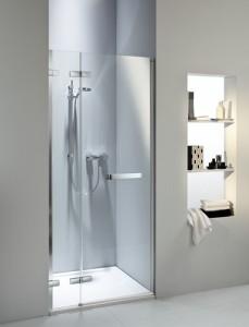 Nowoczesne prysznicowe drzwi wnękowe jednoskrzydłowe