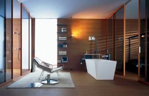 Łazienka przy sypialni wg projektu Antonio Citterio