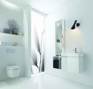 Nowoczesna łazienka utrzymana w białej kolorystyce