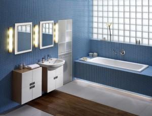 Łazienka w błękicie