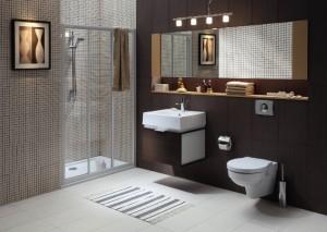Urokliwa i nowoczesna łazienka dla singla