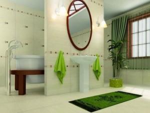 Łazienka w glazurze w stylu pro