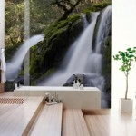Łazienkowa fototapeta z wodospadem