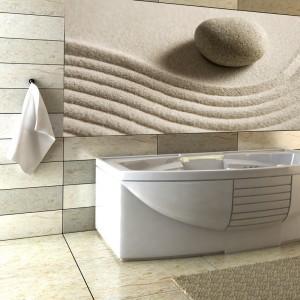 Fototapeta nad wanną w łazience