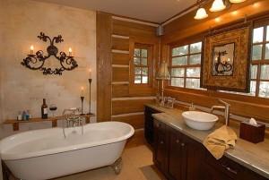 Wiejska łazienka w drewnie