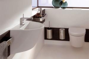 Umywalka i miska wisząca z serii Keramag FLOW