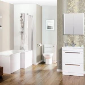 Nowoczesna łazienka w jasnych kolorach
