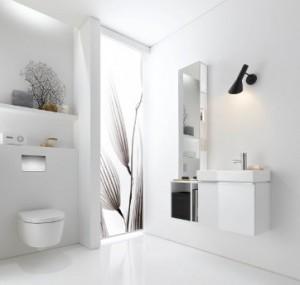 Jasne nowoczesne meble łazienkowe