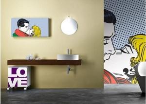 Pop-artowski minimalizm w łazience
