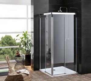 Deszczownica w kabinie prysznicowej