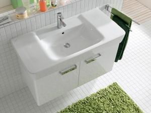 Nowoczesna biała umywalka meblowa