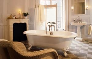 Salon kąpielowy w stylu retro