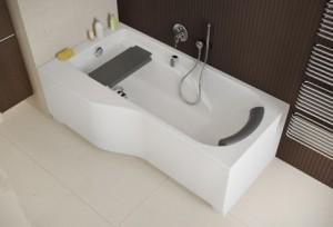 Wanna asymetryczna Comfort Plus z siedziskiem i zagłówkiem