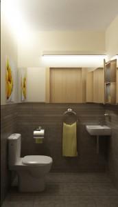 Seria KOŁO Style w aranżacji małej łazienki