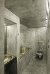 Szara ascetyczna łazienka