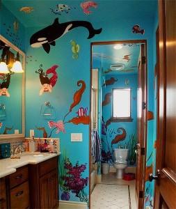 Morska awangardowa łazienka nie tylko dla dzieci