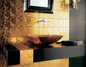 Łazienka w złocie