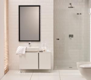 Łazienka z białymi meblami Domino XL