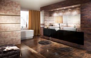 Aranżacja łazienki z wykorzystaniem płytek z serii Miriam/Mirio