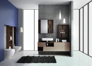 Aranżacja łazienki z wykorzystaniem mebli DOMINO Premium marki KOŁO.