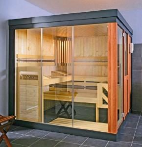 Przykład kabiny sauny.