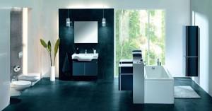 Minimalistyczna łazienka.