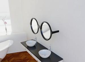 lustro w kształcie okularów