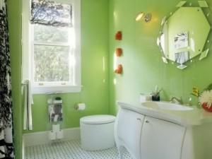 Łazienka w zieleni