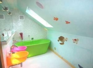 Kolorowa ceramika w łazience