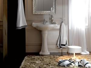 Biała umywalka