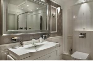 Przestronne łazienki