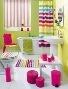 Barwna łazienka