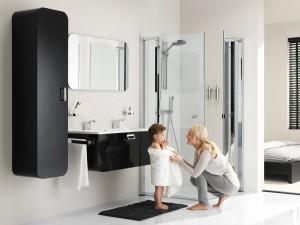 Czarne meble łazienkowe