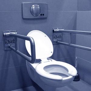 Uchwyty ułatwiające wstawanie z WC osobom chorym, starszym i niepełnosprawnym.