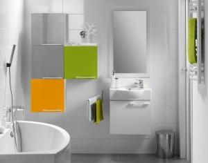 Kolorowe szafki łazienkowe