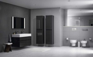 Duża przestrzeń w łazience