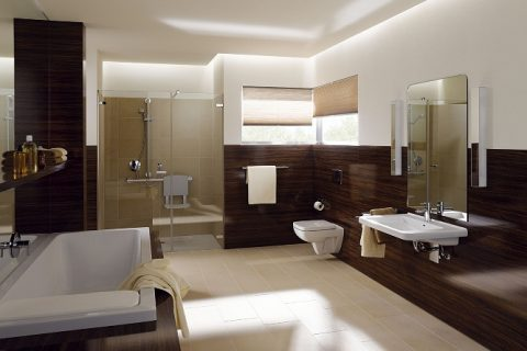Klasyczny brąz w łazience
