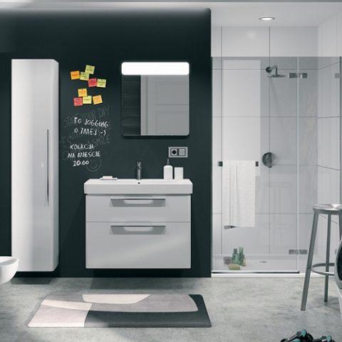 Łazienka w odcieniu szarości