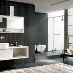 Ciemna aranżacja łazienki