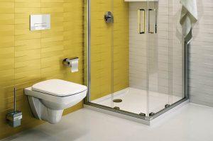 Stonowany żółty w łazience
