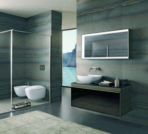 Chłodna, nowoczesna łazienka