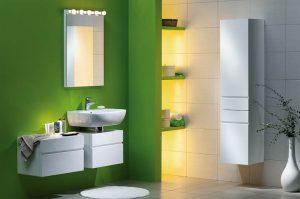 Łazienka w tonacji zielonej