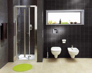 Łazienka w tonacji czarnej